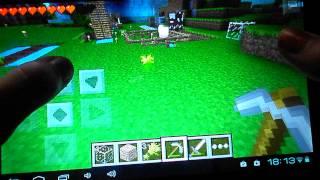 """Играем в Minecraft на планшете """"Монстры отакуют!"""""""