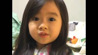 Asian baby says good night Cutest Video Ever!!