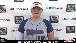 2021 Emma Fournier Pitcher and First Base Softball Player Skills Video - AASA Pikas