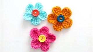 Вязание крючком: ПРОСТЫЕ цветы | Урок для начинающих