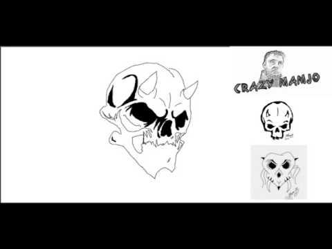 Evil Skull Teufels Totenkopf Totenschädel gezeichent Paint shop pro