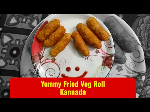 Fried veg roll recipe Kannada #shorts