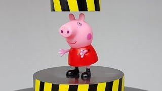 EXPERIMENT MINI HYDRAULIC PRESS 100 TON vs Peppa Pig