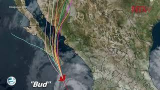 Debido a que la tormenta tropical Bud se acerca lentamente a Baja California Sur, el Servicio Meteorológico Nacional en coordinación con el Centro Nacional de Huracanes de Estados Unidos, mantiene la zona de vigilancia desde La Paz hasta Santa Fe, incluido Cabo San Lucas.