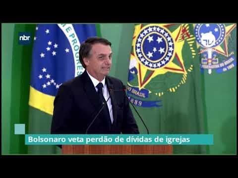 Bolsonaro veta perdão de dívidas de igrejas – 14/09/20