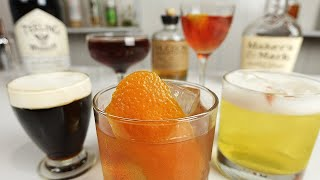 5 MOST POPULAR CLASSIC WHISKEY COCKTAILS - Vol 1