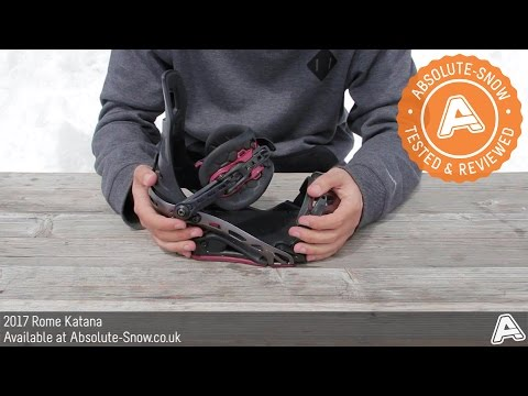 2016 / 2017 | Rome Katana Snowboard Bindings | Video Review