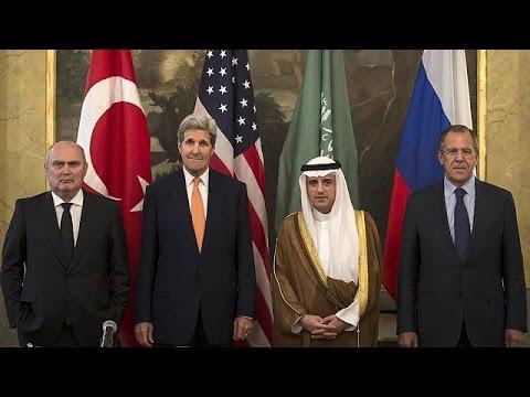 Για Συρία- Μ. Ανατολή συζητούν οι ΥΠΕΞ ΗΠΑ, Ρωσίας, Τουρκίας, Σ. Αραβίας