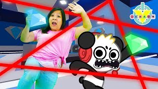 ESCAPING A JEWELRY STORE IN ROBLOX Obby with Ryan's Mommy and Combo Panda ! Let's Play