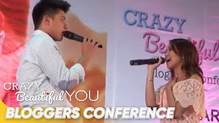 KathNiel sings Nothing's Gonna Stop Us Now at the Crazy Beautiful You Bloggers Conference