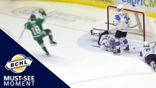 Must See Moment: Cam Reid scores the first goal in Cranbrook Bucks history