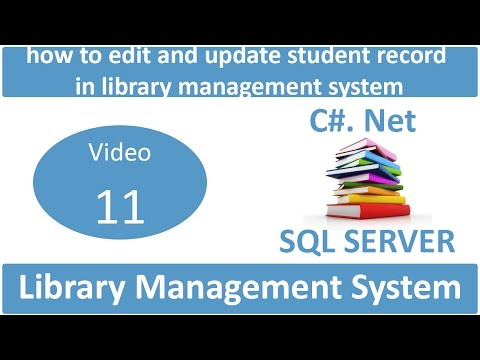how to edit and update student record in library management system