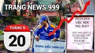 Hàng nghìn người kẹt xe tại Hà Nội | TRẮNG NEWS 999 | 20-09-2016