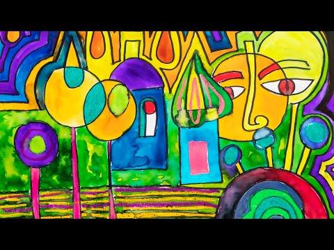 Hundertwasser - Online Learning Module 3: City Landscape Hundertwasser Style   Zart Art