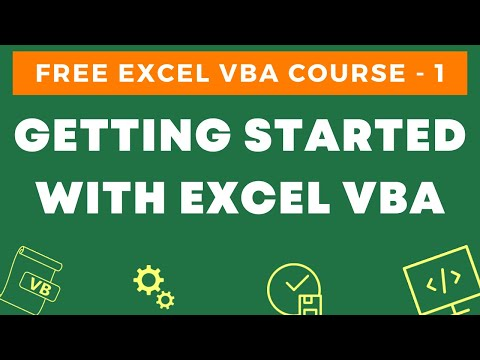Free Excel VBA Course #1 - Getting Started with Excel VBA [An ...