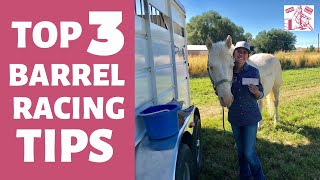 TOP 3 BARREL RACING TIPS FOR BEGINNERS🛢🏇🏼