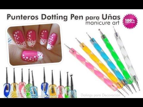 Set con 10 Punteros Dotting Pen para Decoración de Uñas nuevas tendencias de manicure