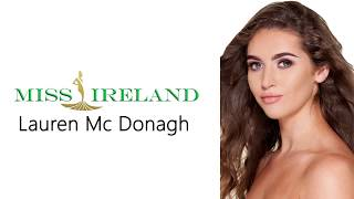 Lauren Mc Donagh Miss World Ireland 2017 Introduction Video