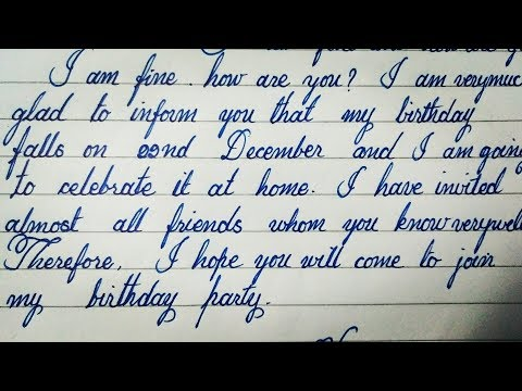 Write A Letter To Your Friend Invite Him On Birthday Party