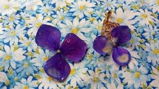 生花をUVレジンでアクセサリー 簡単作り方 樹脂加工 コーティング