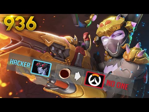 This *HACKER* CAN'T HIT A SHOT!! | Overwatch Daily Moments Ep. 936  (Funny and Random Moments)