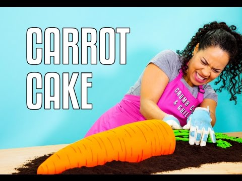 How To Make a GIANT CARROT CAKE! Delicious CARROT CAKE Inside A CARROT Cake - it's CARROT-CEPTION!