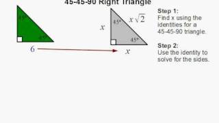 How To Find The Sides Of A 45-45-90 Right Triangle