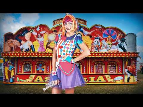 Stop motion carnaval clown