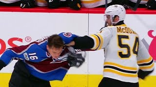 McQuaid uses Zadorov's face as a punching bag | Kholo.pk