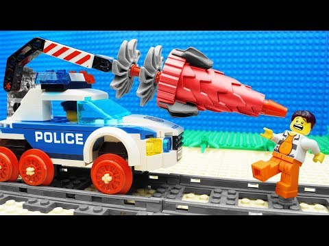 Lego Train Police Tunnel Drilling Machine Fail Actionnews Abc
