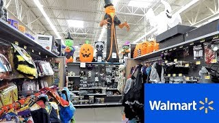WALMART HALLOWEEN SECTION - HALLOWEEN COSTUMES MASKS DECORATIONS HOME DECOR SHOPPING