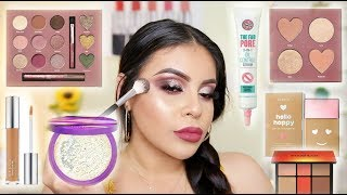TESTING NEW MAKEUP FROM ULTA 2018: FULL FACE FIRST IMPRESSIONS | JuicyJas