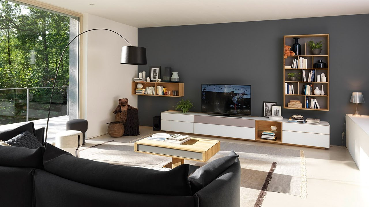 cubus pure wall unit with design elements for the living room
