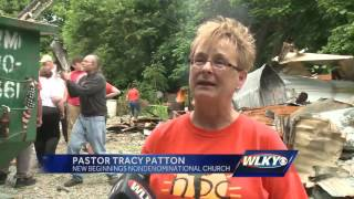 Church helps family that lost home to fire