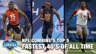 UPDATED! Top 5 Fastest 40-Yard Dashes of All Time 🔥🔥🔥   NFL Scouting Combine