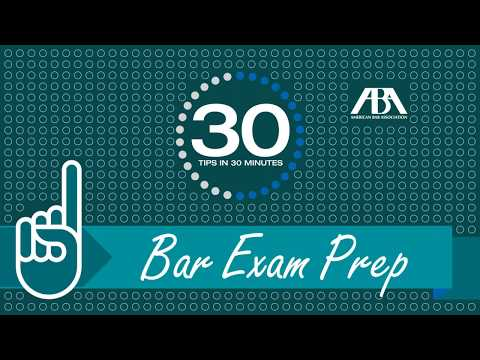 30 Tips in 30 Minutes: Bar Exam Prep - YouTube