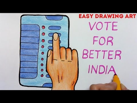 how to make vote for better india poster drawing || voting awareness drawing