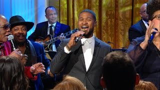 Usher Gets Barack and Michelle on Their Feet!