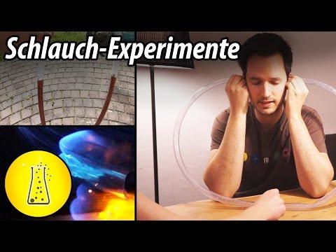 3 Experimente mit einem PVC-Schlauch!