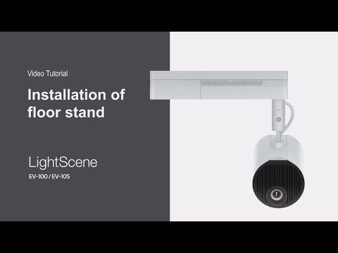 Installing LightScene Models on a Floor Stand | Epson LightScene Tutorial