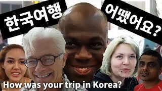 한국 여행 어땠어요? How was your trip in Korea?(at the airport)