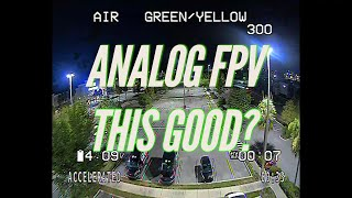 Analog FPV so good it almost looks digital! Check out this combination!