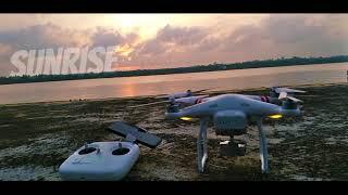 Melihat laut tanjung batu dari ketinggian mengunakan Drone DJI Phantom 3