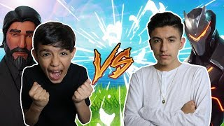 Hilarious Fortnite 1v1 Against 10 Year Old Little Brother! (RAGE)