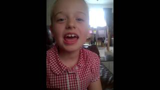 Grace age 8 singing Nightcore - Kiss It All Better