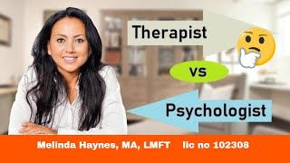 Psychotherapist (Therapist) vs Psychologist ~ What Is the Difference?
