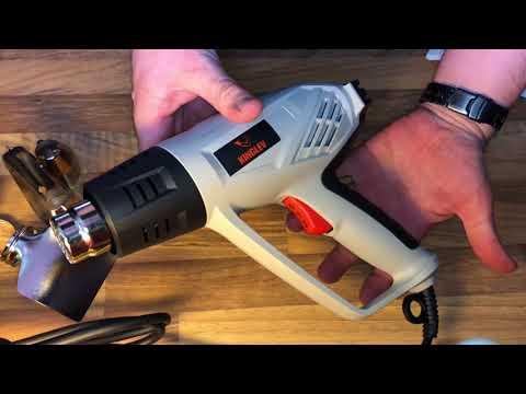 Heißluftpistole 2000 W Heissluftgebläse Einstellbare Temperatur 350°C - 550°C unboxing und Anleitung