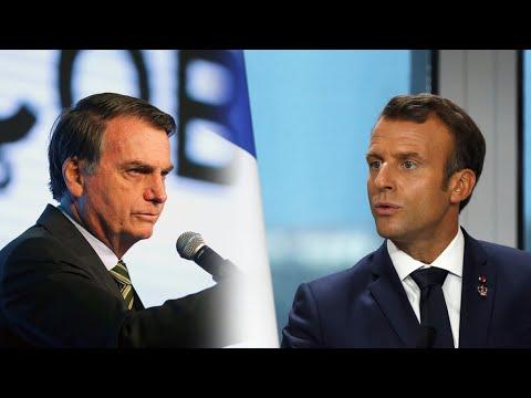 Bolsonaro aceptara ayuda para combatir incendios en el Amazonas si Macron se disculpa