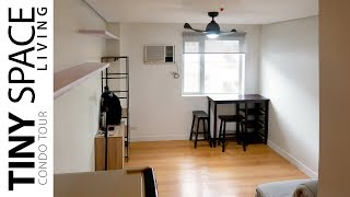 Tiny Space Living Condo Tour - Making Small Space Look BIG!