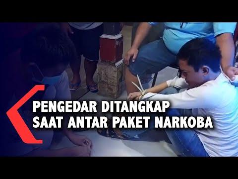 pengedar ditangkap saat antar paket narkoba